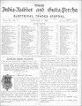 India Rubber and Gutta Percha and Electrical Trades Journal. Vol. 6, No. 6. (Jan 8, 1890)