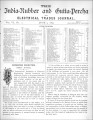 India Rubber and Gutta Percha and Electrical Trades Journal. Vol. 6, No. 11. (Jun 9, 1890)