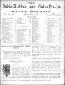 India Rubber and Gutta Percha and Electrical Trades Journal. Vol. 7, No. 7. (Feb 9, 1891)