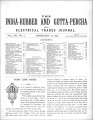 India Rubber and Gutta Percha and Electrical Trades Journal. Vol. 12, No. 7. (Feb 12, 1896)