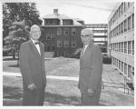 Dr. Bulger and Dr. Kraatz in front of Olin Hall (B-116g2)